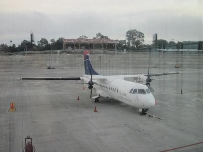 Unser Flugzeug nach Flores