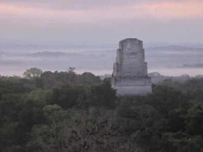 Blick auf ein Tempel