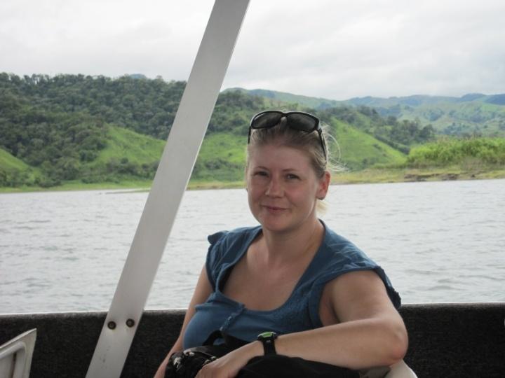 Angie auf dem Boot