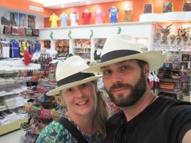 Lustige Panama-Hüte