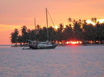 Esmeralda in der untergehenden Sonne