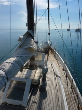 Sailing on Esmeralda