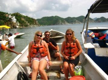 Kleine Bootstour zur nächsten Bucht
