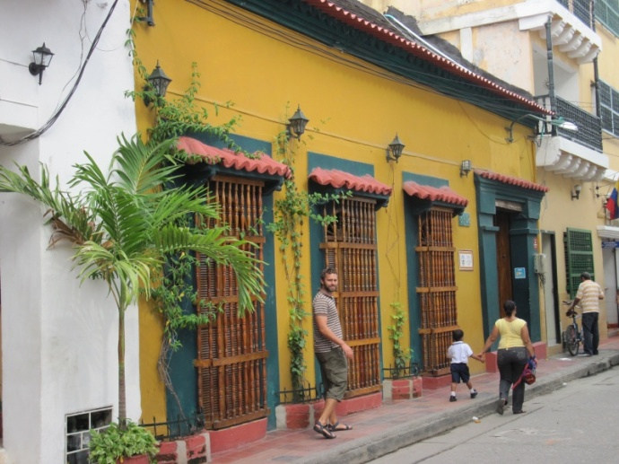 Unser Hostel in Cartagena