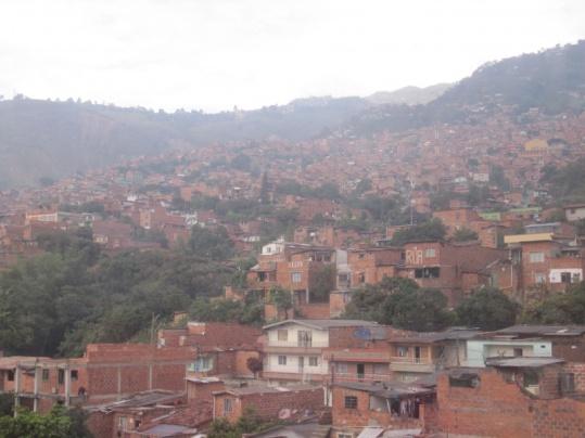 Medellin - ärmeres Viertel