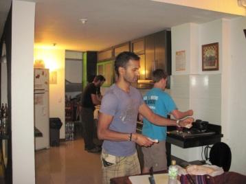 Die Jungs beim Kochen