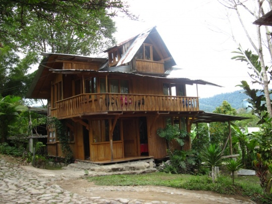 Unser Hostel in Mindo
