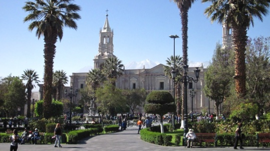 Plaza in Arequipa / Peru