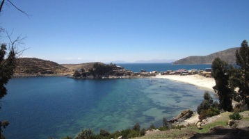Aussicht auf den Lago de Titicaca