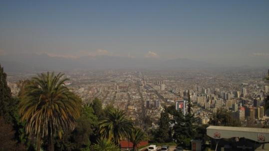 Santiago von oben