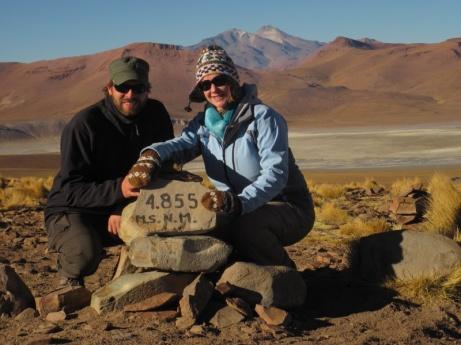 4.855 m - höchster Punkt der Reise
