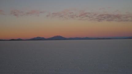 Sonnenaufgang Salzwüste