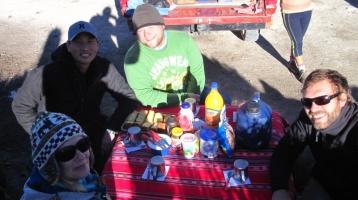 Frühstück in der Salzwüste