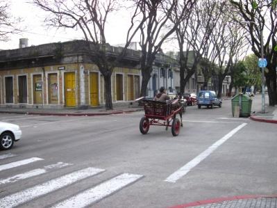 Straßenbild in Montevideo