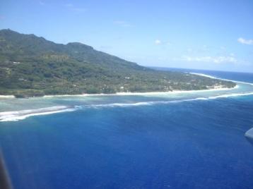 Anflug auf Rarotonga