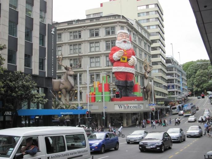 Weihnachtsdeko in Auckland