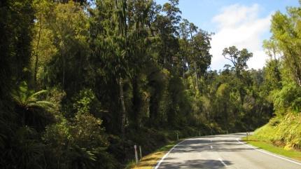 Straßenbild Südinsel / Westseite