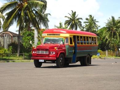 Öffentlicher Bus auf Samoa