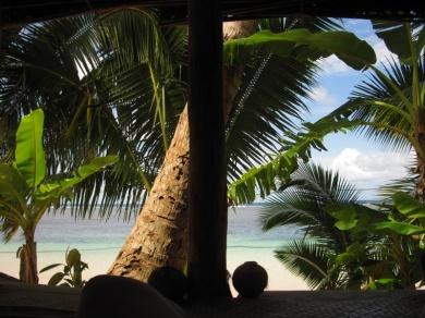 einfach nur traumhaft..:Schlafzimmerblick in Manase / Savai'i