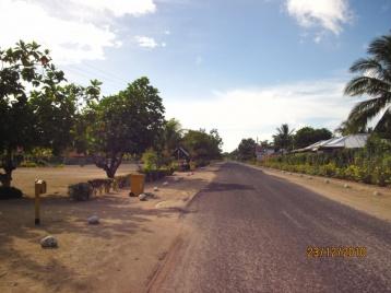 Dorfstraße auf Savai'i