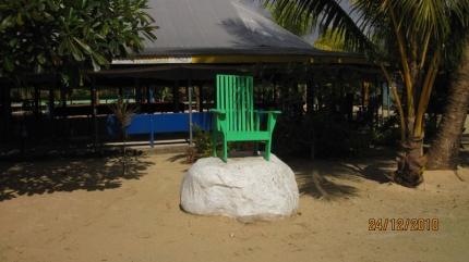 Stuhl des Matai's auf Familiengrund