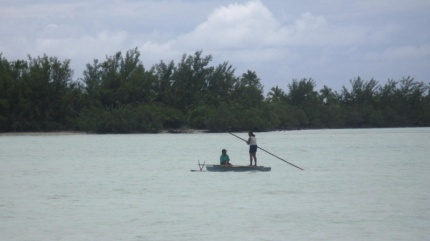 typisches Südsee-Kanoe