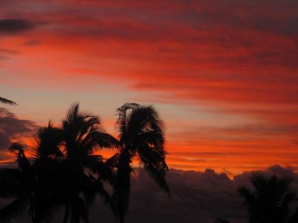 traumhafter Sonnenuntergang auf Aitutaki