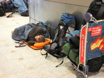 Nachtruhe am Flughafen in Sydney