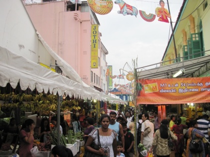 Straßenbild in Little India