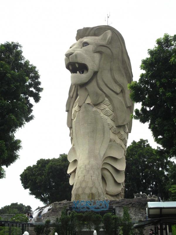 Wahrzeichen von Singapore im Sentosa FunPark