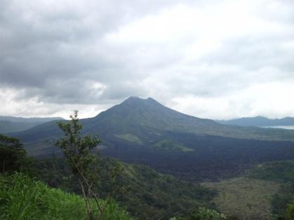 Ein bekannter Berg auf Bali