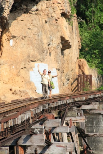 Auf dem Wang-Po Viadukt