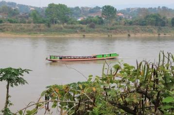 typisches Mekong Schiff