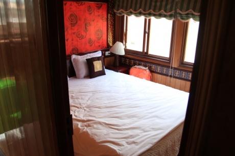 Unser Bett in der Kajüte... nicht neu bezogen für die Neuen