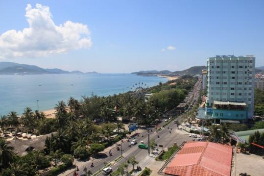 Blick vom Hotel in Nah Trang