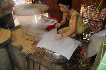 Reisblattzubereitung