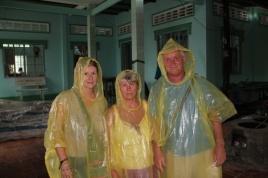 Unsere Regenmäntel kurz vor dem Einsatz