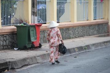 Schlafanzüge werden auch gern am Tag getragen (in ganz Asien)