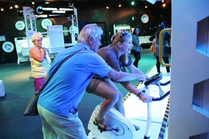Trainieren wie ein Astronaut (im Petronas Museum)