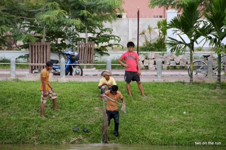 Stadtfischer in Siem Reap