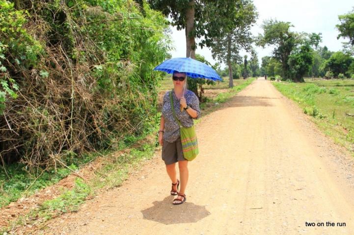 Angie beim Inselwalk