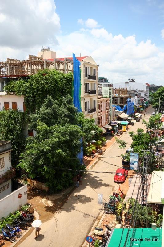 Blick vom Hostel aus - Vientiane