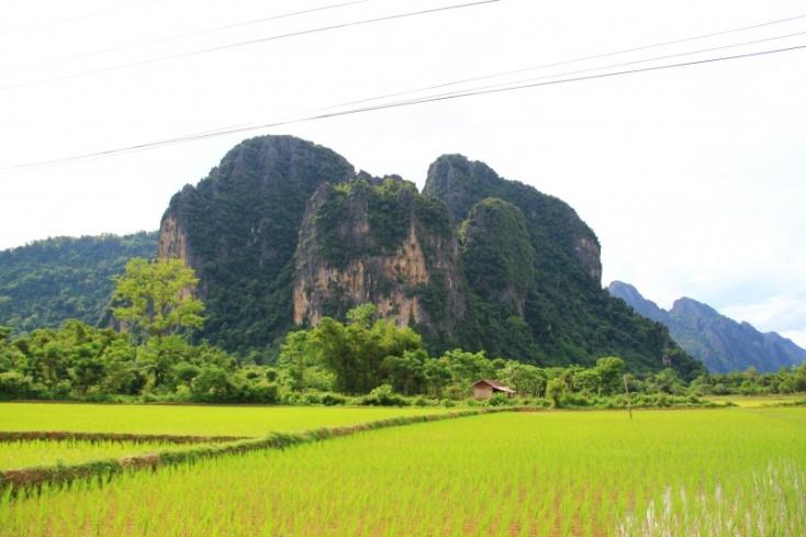 Vang Vieng Landschaft