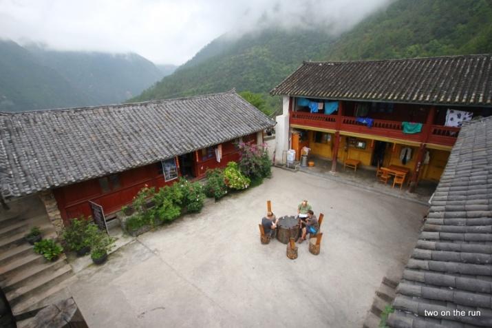 Am nächsten Morgen - Hof des Hostel