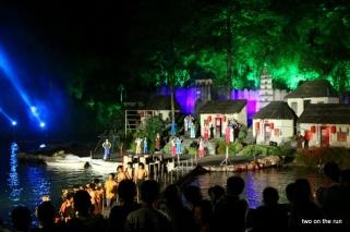 Tradutionelle Vorführung im Yuanmingyuan Kulturpark in Zhuhai