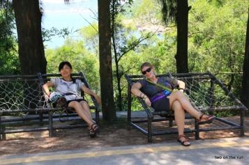 gemütliche Pause auf Dong'ao Island