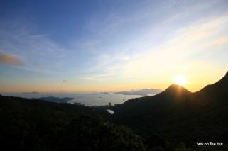 Blick auf die andere Seite Hong Kongs