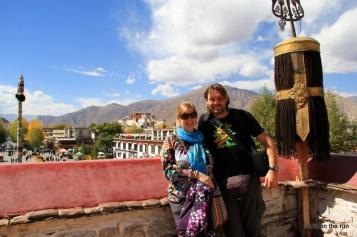 Auf dem Dach des Joghang Tempel