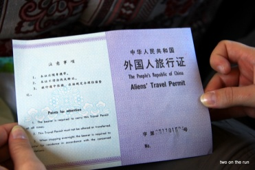 Unsere Aliens Travel Permit