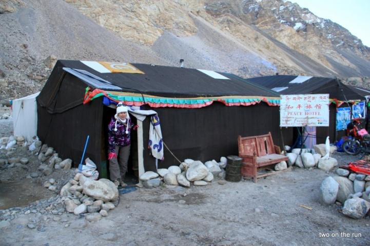 Unser Zelt im Basecamp